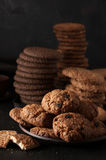 Various cookies in plate Royalty Free Stock Image