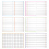 Various  copybook Royalty Free Stock Photo