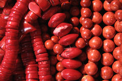 Various coral beads Stock Photo