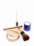Various Cosmetics. Assortment of women's cosmetics on white background Royalty Free Stock Photography