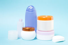 Various cosmetics and hygiene products Stock Images