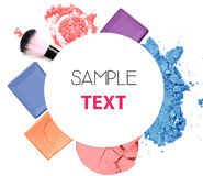 Various cosmetics isolated over white. Stock Photo