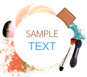 Various cosmetics isolated over white. Royalty Free Stock Images