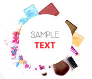 Various cosmetics isolated over white. Stock Images