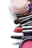 Various cosmetics isolated over white Stock Photos