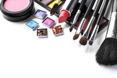 Various cosmetics isolated over white Royalty Free Stock Photos