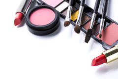 Various cosmetics isolated over white Royalty Free Stock Images