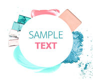 Various cosmetics  over white. Stock Image