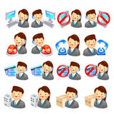 Various a counselor icon sets. Creative Icon Design Series. Stock Photography
