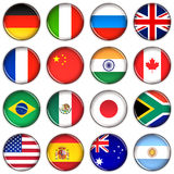 Various country buttons Royalty Free Stock Photography