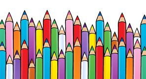 Various crayons image 1. Vector illustration Stock Photography