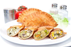 Various Crispy vegetable Samosas Stock Photos