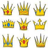 Various crown elegant style set collection Royalty Free Stock Photography