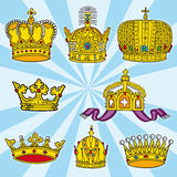 Various crowns Royalty Free Stock Image