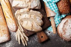 Various crusty bread royalty free stock photography