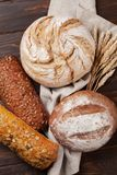Various crusty bread and buns stock photo