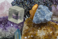 Various crystals in a pile Royalty Free Stock Photography