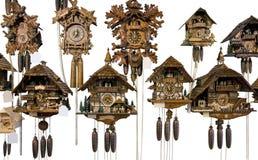 Various cuckoo clocks Stock Image