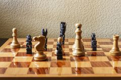 Various cultural traditions expressed in chess pieces. Stock Image