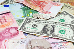 Various currencies Stock Image
