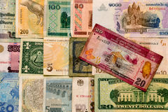 Various Currencies. Collage made of various currencies of different countries from all over the world Stock Images