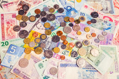 Various currencies Royalty Free Stock Photo