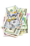 Various currencies Royalty Free Stock Photography