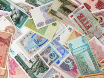Various currency. All sorts of various currency stock photography