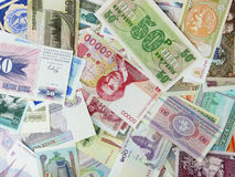 Various currency. All sorts of various currency royalty free stock image