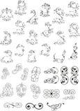 Various curvy design elemens Royalty Free Stock Photos