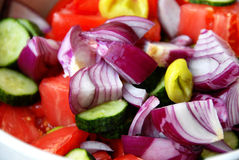 Various cut vegetables Royalty Free Stock Image