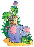 Various cute African animals 1. Illustration Stock Photo