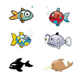 Various Cute Fishes Collection Vector Stock Photos