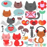 Various cute kittens. Collection of various cute kittens Stock Image