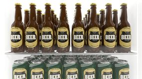 Various 3D beer containers Stock Images