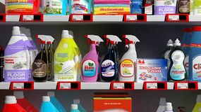 Various 3D household products Royalty Free Stock Images