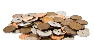 Danish coins Royalty Free Stock Images