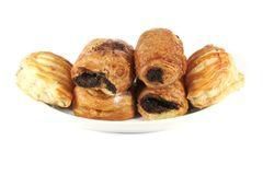 Various Danish Pastries Stock Images