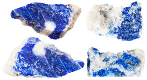Various dark blue lazurite mineral gem stones Stock Photography
