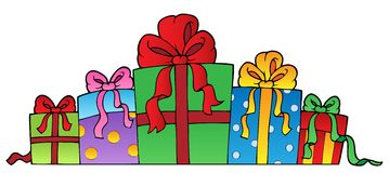 Various decorated gifts 1 Stock Images