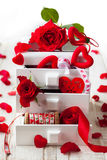 Various  decorations  for Valentine's Day Stock Photos