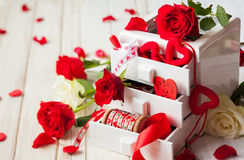 Various  decorations  for Valentine's Day Royalty Free Stock Photography