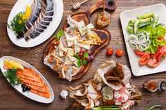 Various delicacies on the table Royalty Free Stock Images