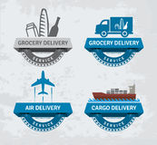Various delivery labels Stock Images