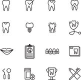 Various dental icons. On white background Stock Illustration