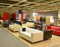 Various design and color for Sofa in Local Ikea shop Stock Image
