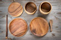 Various design empty plates Stock Image