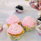 Various Dessert Sweet Cupcakes, Candy, confection Stock Photos