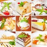 Various desserts collage Stock Photo