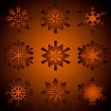 Various different snowflakes Stock Photography